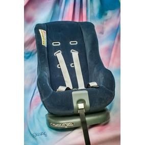Porta Bebe / Silla Para Carro Con Base, Color Azul Marino
