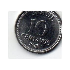 Raro 10 Centavos De 1988 Flor De Cunho