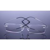 Armação Discreta Prata Invisível Óculos Grau Titanium A408 629d641ca9