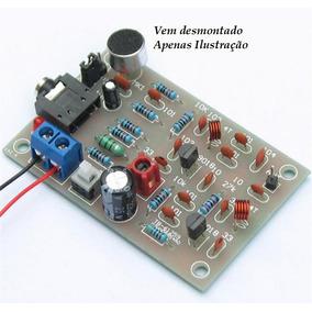 Transmissor Fm Mp3 Sem Fio Microfone Diy Kit Faça Você Mesmo