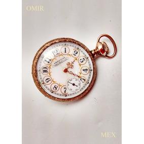 Reloj Waltham Bolsillo Vintage Pequeño Petit Chapa Oro