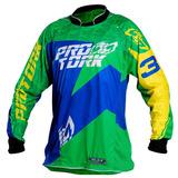 Camisa Trilha Cross Verde/az Balbi Signature Tam(g) Pro Tork