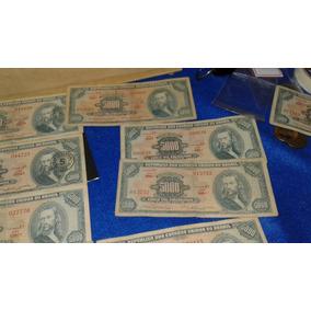 2 Cédulas 5000 - 1 Azul E 1 Vermelha - Frete Grátis