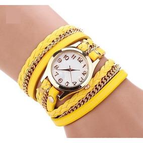 45bc655186d Relógio Amarelo Emborrachado Frete Grátis - Relógios De Pulso no ...