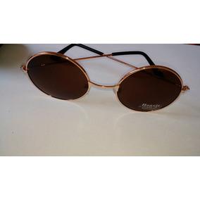 Óculos De Sol Redondo Dourado John Lennon Ozzy Beatles - Óculos no ... cad657d059