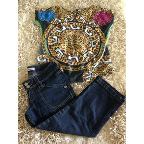Capri Jeans Escuro Tam 38