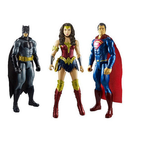 3 Bonecos - Batman Vs Superman A Origem Da Justiça Original 8e4448bfc31