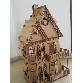 Ax Casinha Casa Boneca Polly - Mdf - Kit 25 Móveis Grátis