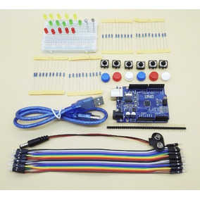 Kit Arduino Uno R3 Iniciante + Jumpers + Leds, + Resistores