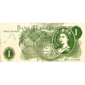 Papel De Carta Inglês Como Cédula 1 Libra 9 Folhas Anos 80.