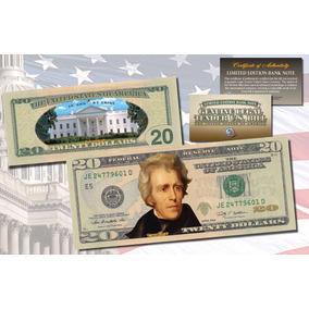 Cédula De $ 20 Dólares Legitima Colorida - Raridade
