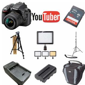Kit Youtuber Nikon Reflex 3300 32gb + Tripe + Led 160 + Case