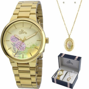 824a63164d671 Relógio Feminino Allora Analógico Al2035fbs 4t - Relógios De Pulso ...