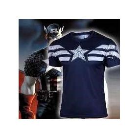 Oferta Camisa Capitão América Azul Escura - Pronta Entrega