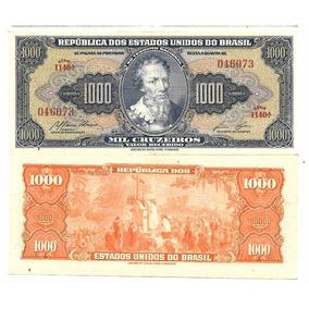Nnn055 Cédula Mil Cruzeiros C053 De 1959