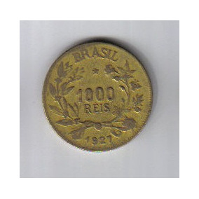 Brasil - Moeda De 1.000 Réis - 1.927 - Fig. Da Abundância.