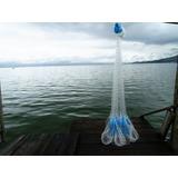 Tarrafa Para Pesca Feita A Mão 0,30 3m Malha Com Nò Dobrado