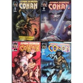 Lote Revistas Hq A Espada Selvagem Conan - N° 74-75-76-78