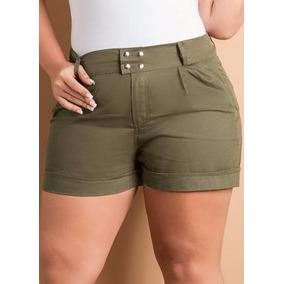 Short Verde Musgo Plus Size - Roupa Gordinhas Lindas