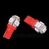 Foco Led Automotriz T10 5 Leds Rojo 5 Piezas