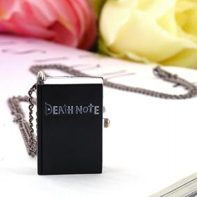 Reloj Cadena Collar Death Note Libreta Anime Negro Bolsillo