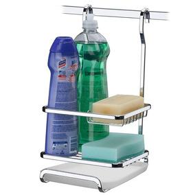Porta Sabão Detergente Esponja Suporte Luxo Aço - 2804