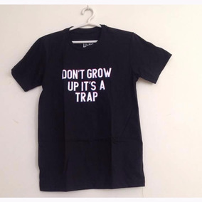 Camiseta Mr Jack Don´t Grow Up It´s A Trap Preta f35852c29de