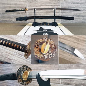 Katana Original Afiada Samurai Damasco Ouro Entrega 25 Dias