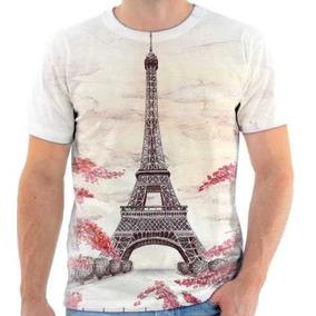 bdb348ad2d Camiseta Estampa Eiffel Tower Paris França - Camisetas e Blusas no ...