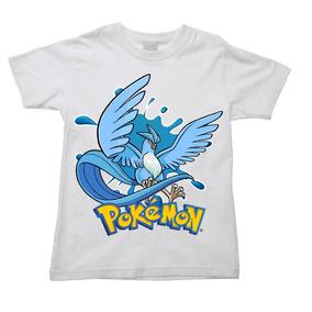 Camiseta Articuno Pokemon Go Game Anime Infantil e77279d0f3e