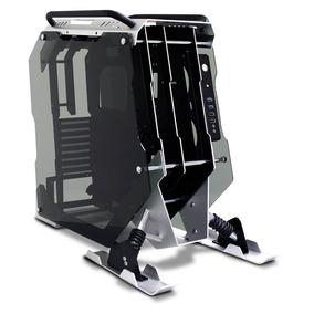 Gabinete Eagle Warrior Snowmobling Atx Cristal Templado Gris