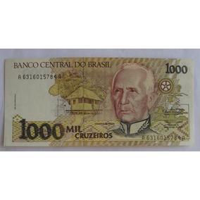 C217 - Bela Cédula 1000 Cruzeiros 1990 Fe