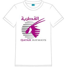 Camiseta Masculina C/ Logo Da Qatar Airways