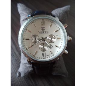 Relógio Masculino Pulseira De Couro - Valia