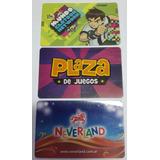Lote De 3 Tarjetas De Diferentes Salas De Juegos Infantil