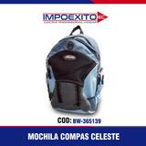 Mochila Compas Celeste Impoexito