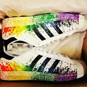 5c81363e84 Adidas Superstar Rainbow Paint - Tenis Adidas en Mercado Libre México