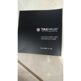 Manual Tag Heuer Calibre 6 Rs