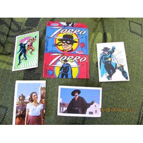 Zorro 6 Pacotes Total 24 Figurinhas Lacradas + Frete