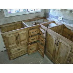 Bajo Mesada Estilo Campo Madera - Muebles de Cocina en Mercado Libre ...