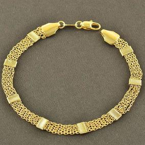 Bracelete Pulseira Sammy Chapeado A Ouro Celebridades
