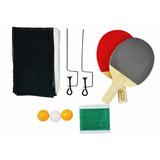Kit De Ping Pong Completo Raquetes Bola E Rede
