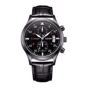 Reloj Cronografo Megir Modelo 2021byn - Original