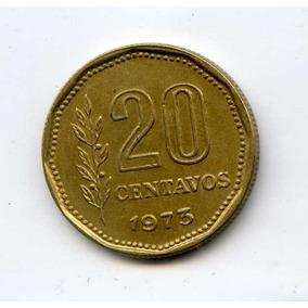 Argentina 20 Centavos 1973 Canto Grueso 22e/cm Cj 339.2