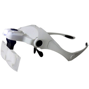 Lupa Cabeça Oculos Profissional Aumento Estetica Leitura Luz 1c5881d00c