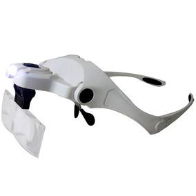658abbe896c68 Lupa Cabeça Oculos Profissional Aumento Estetica Leitura Luz