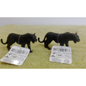 Miniatura De Onça Safari Zoológico Animais Selvagem Selva