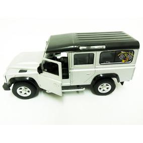Miniatura Land Rover Defender 110 Prata Rmz 1:32 Raridade