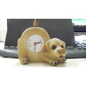 Reloj De Mesa Decorativa Figura De Cachorro
