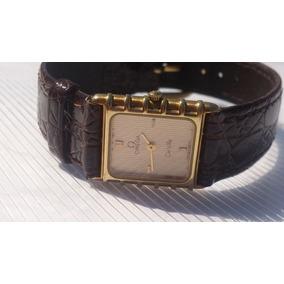 Reloj Original Omega De Ville Chapa De Oro Cuadradito